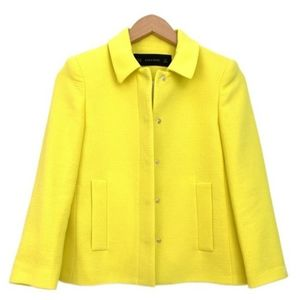 Zara Yellow Snap Front Jacket